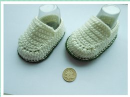 Hot Sale Boy Crochet baby ballet shoes handmade infant booties toddler shoes 0-12M cotton 10pcs lot custom