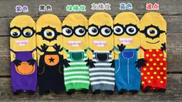 Wholesale Personnalité de la mode mignon petit peuple jaune en trois dimensions super lait papa chaussettes chaussettes de tube personnalité Mme coton chaussettes de bande dessinée
