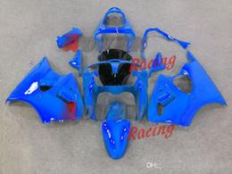 All Gloss Blue Injection Fairings Bodywork kit Kawasaki Ninja ZX6R 2000-2002 28
