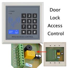 Rfid clave cerraduras de las puertas en Línea-Acceso RFID Contol Cerradura electrónica de puerta de entrada Sistema de control de acceso con 10 llaveros Sistema de seguridad