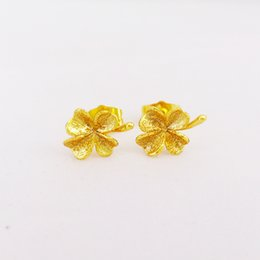 3pairs lots Sparkling Wholesale 18k Yellow gold filled women's hoop earrings lady's earrings free shipping Hot!