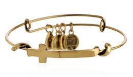Wholesale 2015 New Alex and Ani retro Original Cross Pendant Bracelet