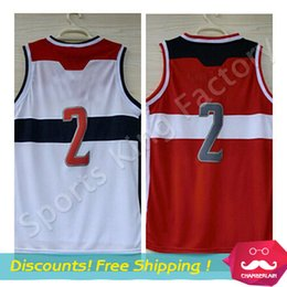 Wholesale Cheap Jersey Home White Away Red New Rev Men s Stitched Logos Wall Basketball Jerseys S XXL Mixed Order
