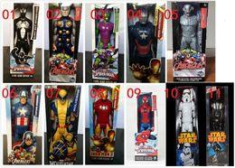 Promotion l'action de guerre 11 styles 10pcs Star Wars Darth Vader Figurine d'action en PVC 30cm Marvel Spiderman Vert Goblin PVC Figure d'action Jouet à collectionner Wolverine