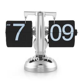 Wholesale Retro Auto Flip Down Clock Desk Table Internal Gear Operated Single Scale Stand
