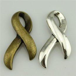 Wholesale 100pcs mm vintage colors antique silver antique bronze plated zinc alloy AIDS ribbon charms
