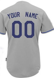 Wholesale Cheap Baseball Jerseys Custom Made Dodgers Jersey Customized Embroidered Personalized Name Number Team Logo White American Wear