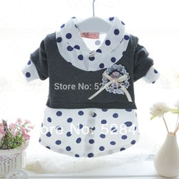 2015 Spring Baby t shirts Baby Girl Newborn Faux Two Piece long-Sleeve Polk Dot Fashion T-Shirt Baby Girl Clothes Roupas Meninas