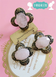 Wholesale SAMANTHA WILLS Singh blue mosaic natural rose quartz ring earrings Set Spring Specials