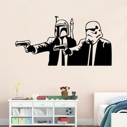 Wholesale Star wars wall sticker Unisex PVC Rooms Decal Removable wallpaper Star Wars Wall sticker Jedi Knight Darth Vader Sticker