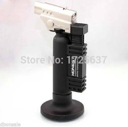 Wholesale-HONEST Adjustable Flame Butane Gas Jet Torch Cigarette Lighter Black #500