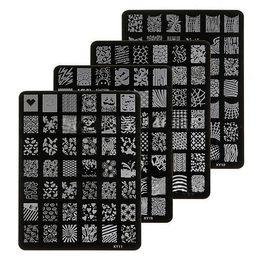 Wholesale-New Fashion Nail Art Polish Image Stamp Stamping Plate + Free Stamper Manicure Polish Template Plates DIY Free Shipping