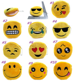 Wholesale New QQ Expression Coin Purses Cute Emoji Coin Bags Plush Pendant Womens Girls Creative Chirstmas Gifts