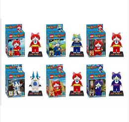Wholesale 6pcs quot Yokai Watch Yo Kai Building Toys Blocks Figures