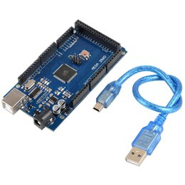 Wholesale New Electronic Components ATmega2560 AU CH340G MEGA R3 Board USB Cable For Arduino VE120 W0 SYSR