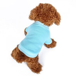 Wholesale Available Blank Dog Pajamas Short Sleeved T Shirt Chihuahua Overal Pet Doggy Dog Outfit Grooming Boy Dog Clothes
