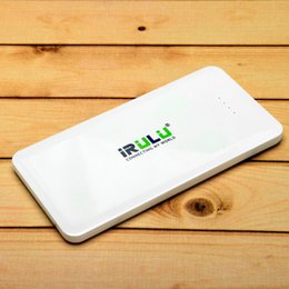 Wholesale US Stock IRULU Universal mAh USB Power Bank Charger Chargers Portable White External Battery for Cell phone CE RoHS FCC certificate
