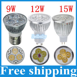 GU10 E27 MR16 E14 GU5.3 B22 Dimmable 9W 12W 15W Led Lamp 85V-265V Spotlight Led Bulbs Warm Pure Cool CE ROHS 6PCS
