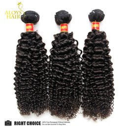 24 paquets de cheveux bouclés en Ligne-Péruvien Indien de Malaisie Brésilien Mongolian Kinky Curly Virgin Cheveux Weave Bundles Non transformés Deep Curly Extensions de cheveux humains Double trame