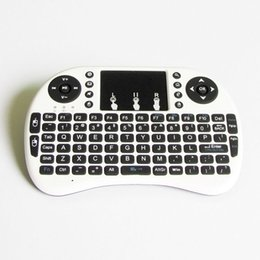 Wholesale Full Function Mini Keyboard With Touch Mouse Control Computer Android TV Box Dongle projector Phone etc Smart DevicesI8