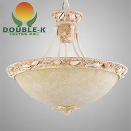 Wholesale Modern European Mediterranean Style Weathered granite Ceiling Lighting Artificial Sandstone Lamp Spain style