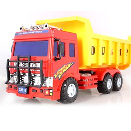 Wholesale Operational engineering car series children s toy car inertia power backhoe excavator truck mixer