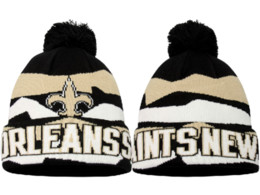 Wholesale Hot sale New Saints knitted hats pom top cuffed beanies for men women skullies all team baseball cao free fast shipping