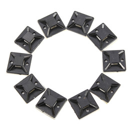 Wholesale 10PCS X20mm Self Adhesive Cable Wire Zip Tie Mounts Mounting Base Clamps Clip