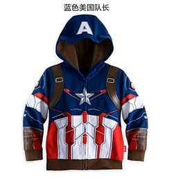 Wholesale Fashion Boy Hoodies cotton boy sweatershirts Iron Man hoodie Captain America sweater Thor hoody childrens Jacket boy coat boy sweaters