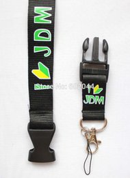 Wholesale New Fashion I LOVE JDM Motorcycle Logo black Lanyard Key chain Holder Badge ID Phone Holder motorsport