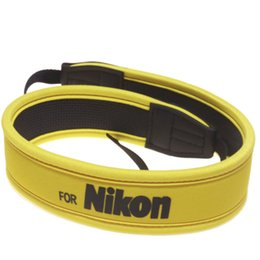 New camera full yellow Neoprene Neck Strap for nikon D100 D300 D80 D90 D5100 D7000