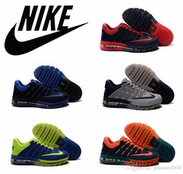 Discount Shoes Run Air Max NIKE AIR MAX 2016 KPU running shoes 100% original black red airmax 2016 sports shoes cheap blue green maxes training shoes plus size 40-47