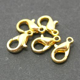 600pcs -10mm Lobster Clasp Gold Rhodium Gunmetal Antique Bronze Plated U-Pick Color Metal Clasps Fit Necklace Bracelet Making DH-FKA001