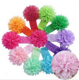 Hair Accessories Baby Girls Lace Headband Baby Chiffon Flower hairband Infant girl Hair Weave band childern hair clips order<$18 no tracking