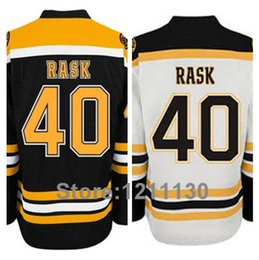 Cheap Boston Bruins Tuukka Rask Jersey 40 Black White Team Color Road Away 2013 Ice Hockey Stanley Cup Jerseys Sale