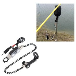 Fishing Bite Alarm Fishing Tackle Tool LED Illuminated Indicator Fishing Alarm Chain Hanger Fishing Swinger Indicator