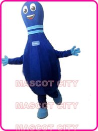 Wholesale Advertising Bowling pin Blue Lobut Mascot Costume Adult GYM Ball Theme Carnival Mascotte Fancy Dress Kits SW1972