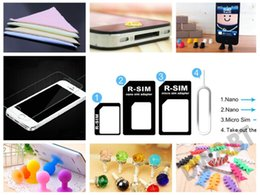 Wholesale freeshipping cell phone accessory Bundles holder stand home film cleaner dustproof plug sim card converter amp taker winder