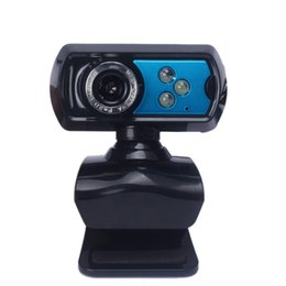 Wholesale Beautiful Gift New Blue USB HD Webcam Camera Web Cam With Microphone Mic LED For PC Laptop Dec25