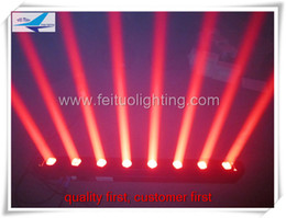 (8 lot)led 8x10w RGBW 4 in 1 moving head rotating sweeper beam led moving bar light