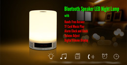 Multifunctional LED Night Lamp Wireless Bluetooth Speaker MP3 Support TF Card Alarm Clock Function