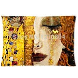 Wholesale Austria Symbolon Painting Artist amp Gustav Klimt Works Background Soft Cushion amp Pillow case x30 Inch cotton polyester