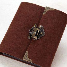 Wholesale Tapirs antique padlock diy photo album lovers handmade honded photo album baby