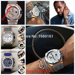 Wholesale original box Luxury Top Quality Japan Quartz Chronograph Silicone strap gray leather Sport Mens Watch Wrist Watch Running WATCH