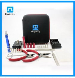 New Coil Wire Coil Tool Kit DIY tools bag With Ohm Meter PAtable tools box For Hookah Enthusiasts