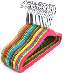 Wholesale High Quality Baby Clothes Velvet Hangers Velvet Hanger for Baby Garment Velvet Hangers