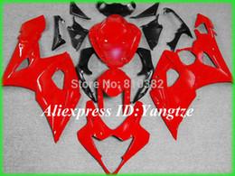 Custom motorcycle fairing kit for SUZUKI GSXR 1000 05 06 GSX-R GSXR 1000 K5 2005 2006 Hot Red ABS trim set