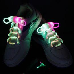 HOT LED Shoe Flashing shoelace light up Disco Party Fun Glow Laces Shoes 500pcs lot=250pairs Halloween Christmas gift Free DHL FedEx