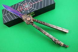 Araignées noires en Ligne-Araignée C50 29 Black Widow couteau fléau de libre-swinging couteau de camping Chasse de pliage Survie couteau boîte cadeau et la gaine 1pcs