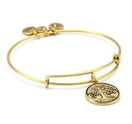 Wholesale alex and ani the tree of life bracelet Charm Bangle Expandable Wire Bangle energy bracelet hot new products for